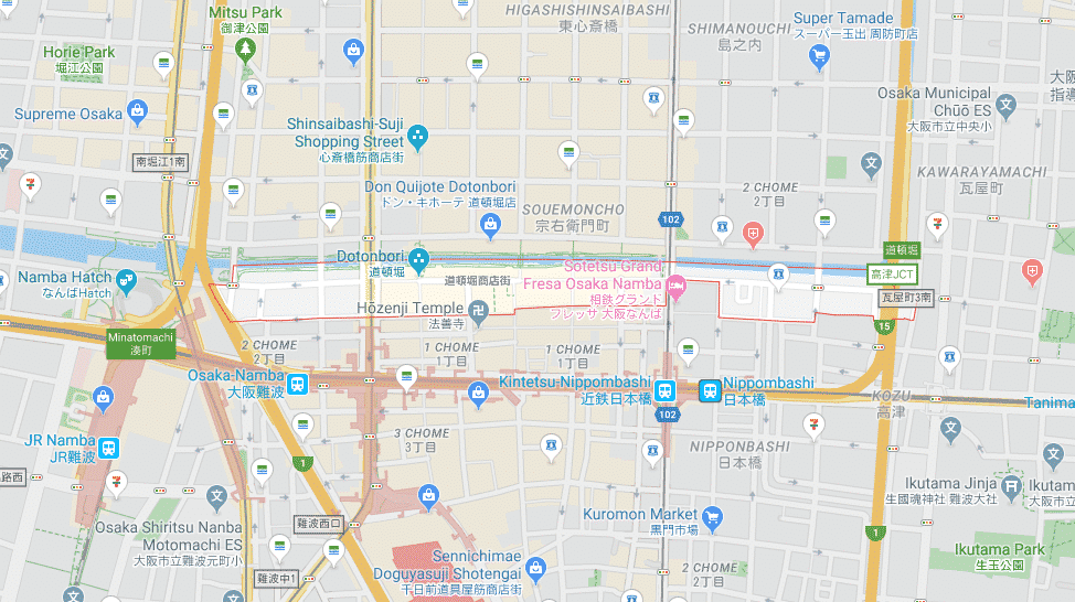 Map of Dotonbori